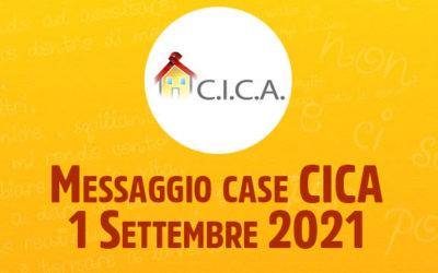 Messaggio case CICA – 1 Settembre 2021